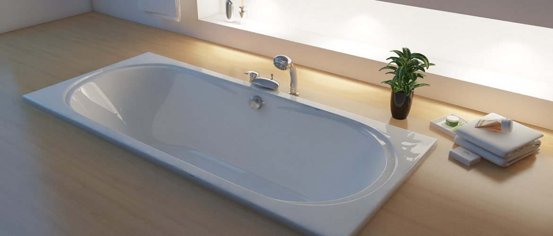 Акриловая ванна прямоугольная