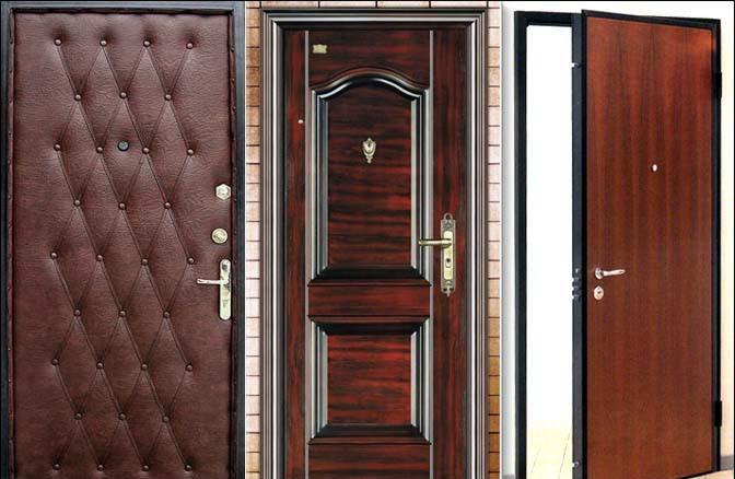 Некоторые виды металлических дверей