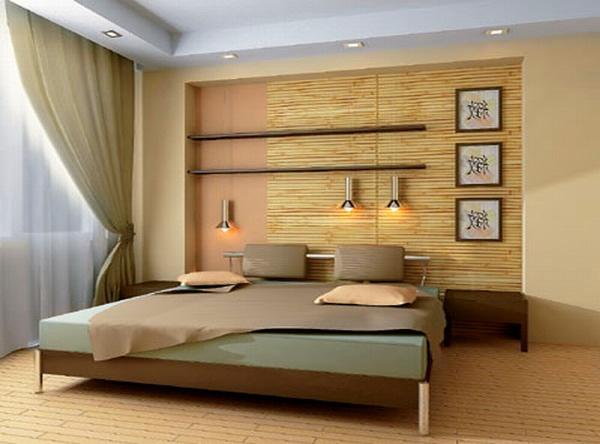 Бамбуковые обои в дизайне