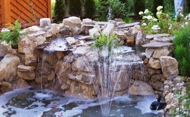 Сооружение декоративного фонтана